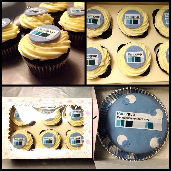 cupcakes corporativos tarta corporativa tarta fondant empresa
