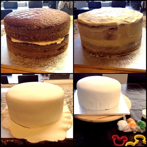 paso a paso tarta fondant