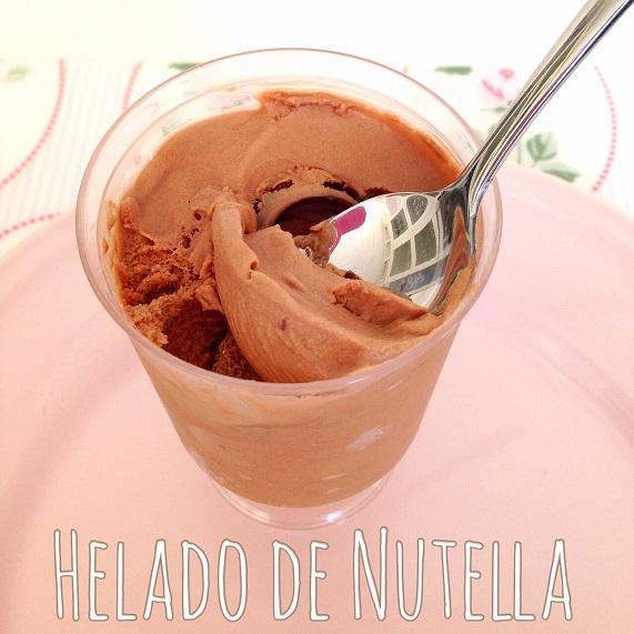 helado de nutella sin heladera