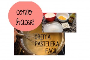 crema pastelera facil