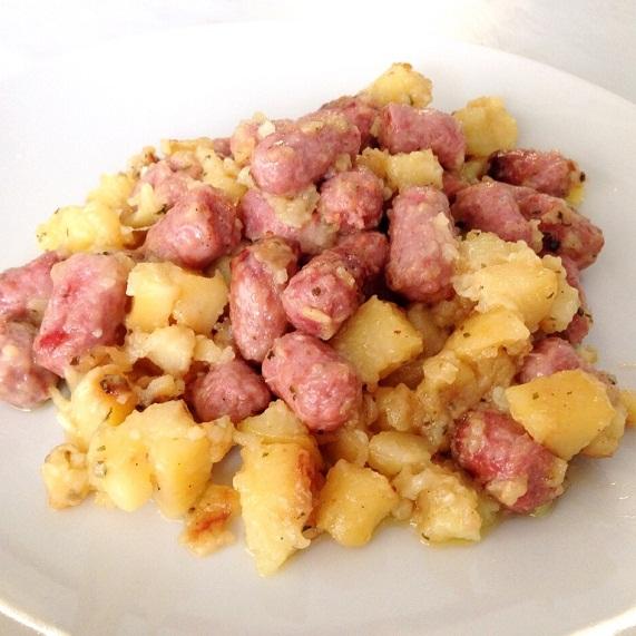receta salchipapas