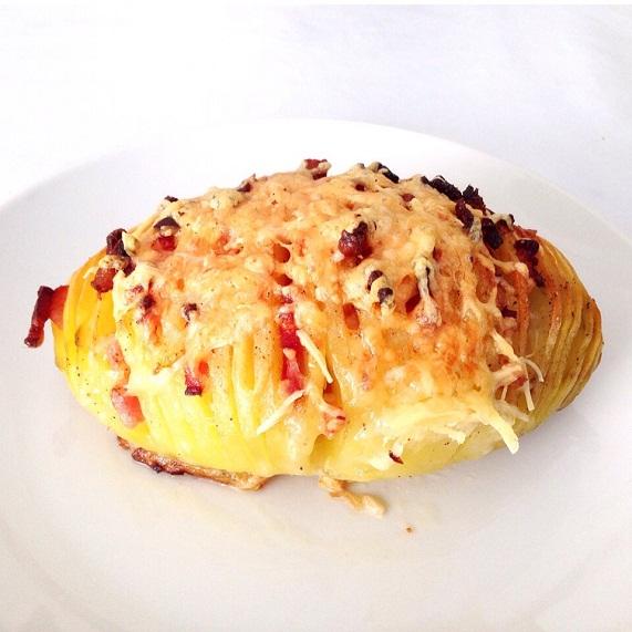 receta patatas hasselback