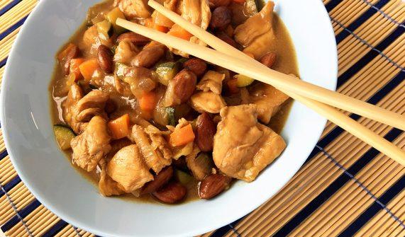 receta pollo con almendras chino